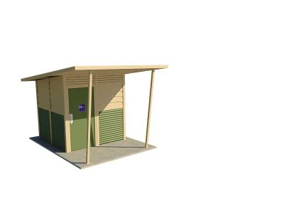 Yarra 1 Standard Toilet Building with Pale Eucalypt and Paperbark colour scheme