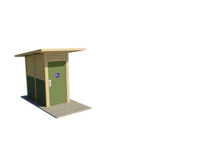 Yarra 1 Compact Standard Toilet Building with Pale Eucalypt and Paperbark colour scheme